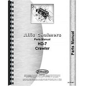 Allis Chalmers H7 Hd7w Crawler Parts Manual Ac p hd7