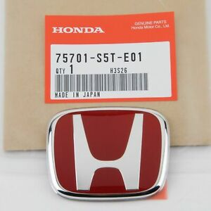 Jdm Honda Civic Si Hatchback Type R Ep3 2001 2005 Red H Rear Badge Emblem