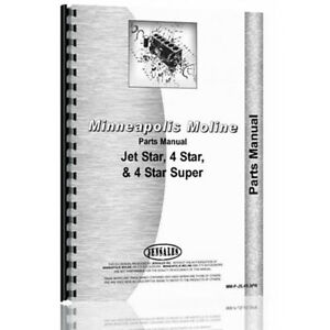 Parts Manual Made For Minneapolis Moline Tractor Model Jet Star Ii