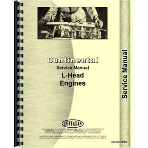 Con s lhead Continental Engines F163 Engine Service Manual