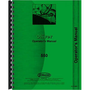 New Oliver 550 Tractor Operators Manual