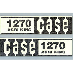 C1270 Brand New Case Tractor 1270 Agri King Hood Decal Set