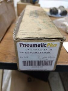 Pneumatic Plus Model Saw 2000m n02bg 1 4 npt Air Filter Regulator