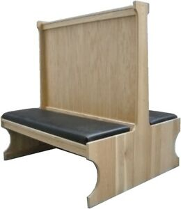 Oakbrook 5900d Restaurant Booth Double Wood Seat back