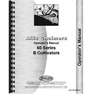 Operators Manual Made For Allis Chalmers Ac Cultivator Model 61