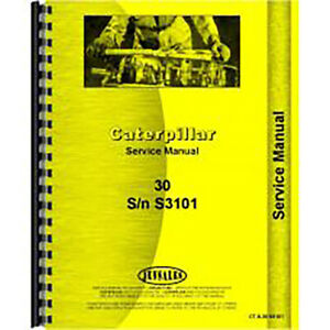 For Caterpillar 30 Crawler Service Manual new s3101 And Ps1