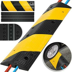 2 Channel Rubber Speed Bumps Electric Traffic Control Light Weight Parking Lot