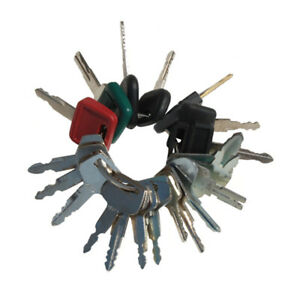 Heavy Construction 21 Key Ring Set For Excavator Dozer Forklift Broom Loader