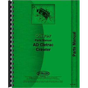 New Oliver Ad Crawler Parts Manual