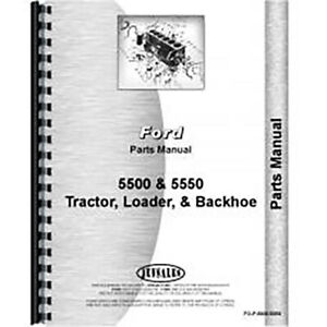 Parts Manual For Ford 5500 gas And Diesel industrial Tractor Loader Backhoe