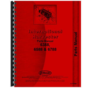 New International Harvester 6788 Tractor Parts Manual chassis Only