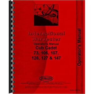New Tractor Operators Manual For International Harvester Cub Cadet 147 Tractor