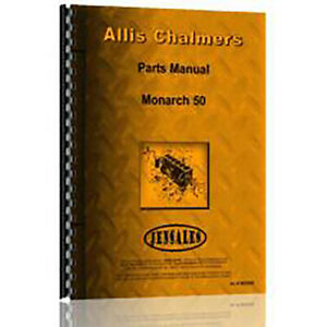Allis Chalmers Monarch 50 Crawler Parts Manual