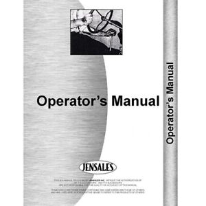 Tractor Operator Manual For International Harvester Cub Cadet 293 393
