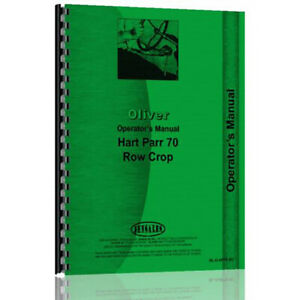 Oliver hart Parr Hart Parr 70 Tractor Rc Operator s Manual
