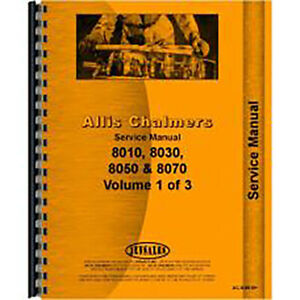 Service Manual For Allis Chalmers 8070 Tractor diesel