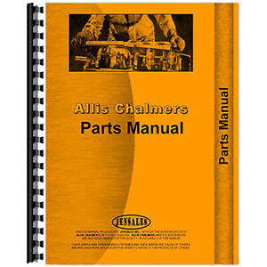 Parts Manual For Allis Chalmers Hd15 Motor Grader diesel Only
