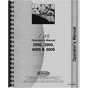 Ford 5000 Tractor Operators Manual 4 Cyl