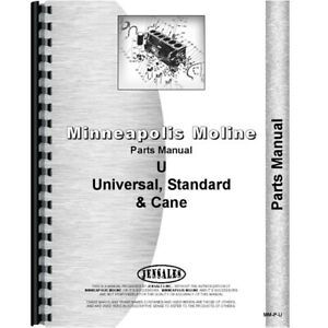 Parts Manual Made For Minneapolis Moline Tractor Model Utc