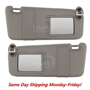 Gray Sun Visor Pair Left And Right For 2007 2011 Toyota Camry With Sunroof
