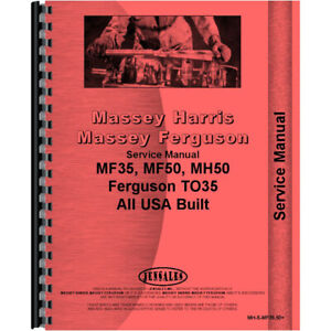 New Massey Ferguson 50 Tractor Ag Service Manual