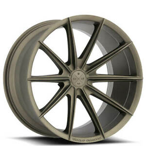 Qty4 19 Staggered Wheels And Tires Blaque Diamond Bd 11 Matte Bronze