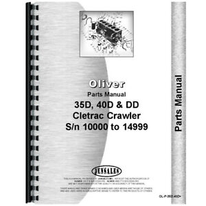 New Oliver Dd Tractor Parts Manual