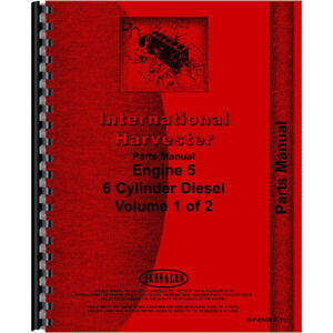 New Reproduction International Harvester 1066 Tractor Engine Parts Manual
