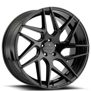 Qty4 19 Staggered Wheels And Tires Blaque Diamond Bd 3 Gloss Black