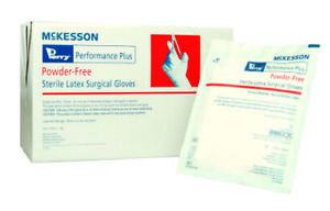 Mckesson Surgical Glove Perry Performance Plus Sterile Smooth Cream Box Of 80