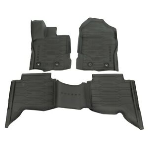 Oem New 19 20 Ford Ranger Crew Cab All Weather Tray Style Rubber Floor Mats Set