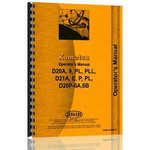 Komatsu D20pll Industrial construction Operator Manual