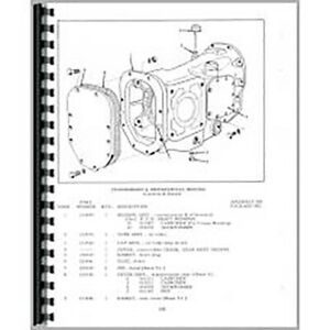 New Tractor Parts Manual For Allis Chalmers D15