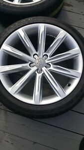 19 Oem Audi A7 S7 A8 S8 Wheels Rims Tires Package 5x112 Goodyear Eagle Ls2