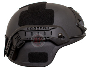 MICH Ballistic Helmet with Accessories - Large with Shroud and Rails Included