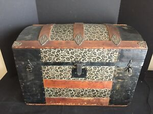 Antique Dome Top Chest Steamer Trunk