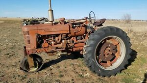 1953 International Farmall Super M Tractor For Parts Of Restoration