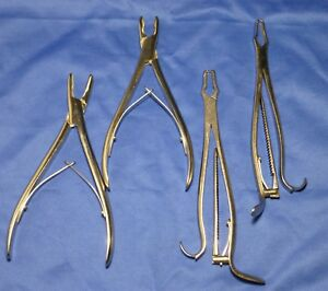 4 Oral Surgery Extracting Dental Forceps Pliers Instruments Germany Stainless