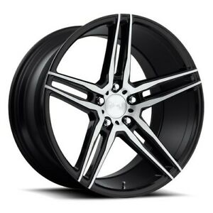 Qty4 19 Staggered Niche M169 Turin Brushed Black Wheels And Tires
