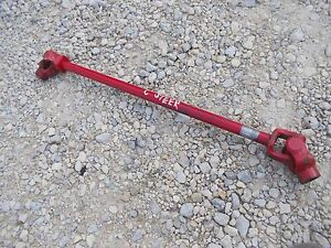 Farmall C Sc Tractor Short Steering Shaft W Knuckle Knuckles Joints