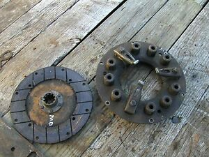Farmall Md M Diesel Tractor Ih Engine Motor Clutch Assembly Pressure Plate
