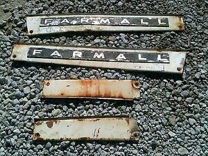Farmall 504 Diesel Tractor Factory Ih 4 Hood Side Cover Panels
