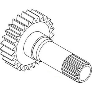 71230c2 Ipto Shaft And Gear For International 454 464 484 574 584 Tractors