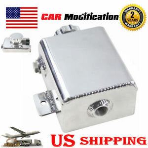 Fabricated Aluminum Coolant Expansion Catch Can Tank W billet Cap Universal