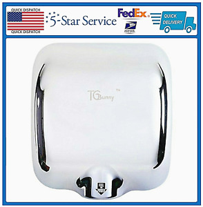 Commercial Automatic Stainless Steel Hand Dryer Electric Auto Warm Air Low Db