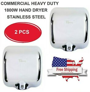 2 Pack High Speed Commercial Stable Stainless Steel Automatic Hand Dryer