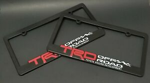 X2 Trd Abs License Plate Frame Toyota Trd Offroad Tacoma Fj Cruiser 4x4 Rally
