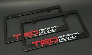 X2 Trd Off Road License Plate Frames Toyota Racing Development 3d Letters Truck