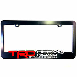 X1 Trd Off Road License Plate Frames Toyota Racing Development 3d Letters Truck