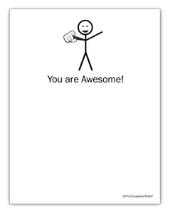 Guajolote Prints You Are Awesome Funny Notepad Motivational Gift Idea Gpfnp15